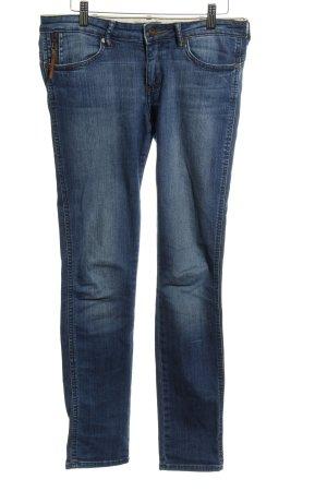 Wrangler Skinny Jeans blau Jeans-Optik