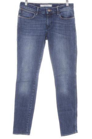 Wrangler Slim Jeans dunkelblau-stahlblau Casual-Look