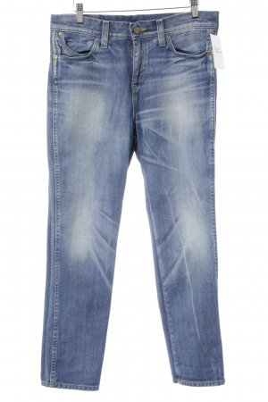 Wrangler Straight-Leg Jeans kornblumenblau Washed-Optik