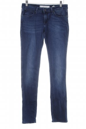 Wrangler Stretch Jeans dunkelblau Jeans-Optik