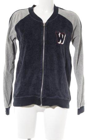Wrangler Giacca fitness blu scuro-grigio chiaro stile casual