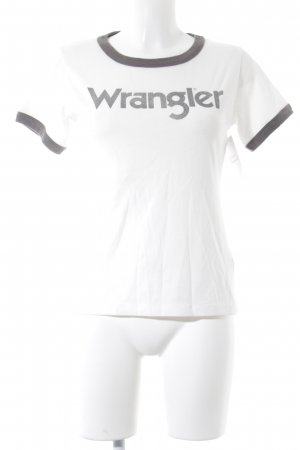 Wrangler T-Shirt wollweiß-taupe grafisches Muster Casual-Look