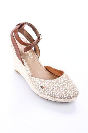 Wrangler Wedges Sandaletten wollweiß-beige Webmuster Street-Fashion-Look
