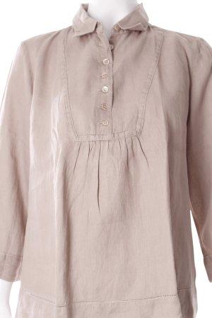 Wrap Blusa de lino beige