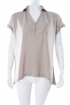 Wrap Polo-Shirt beige Casual-Look