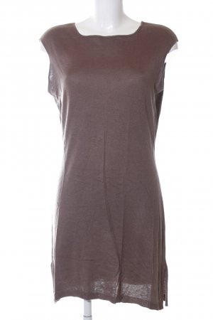 Wrap Silk Top brown casual look