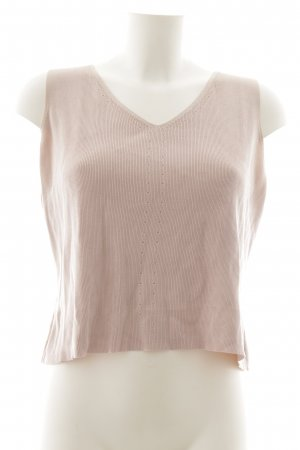 Wrap Knitted Top pink casual look