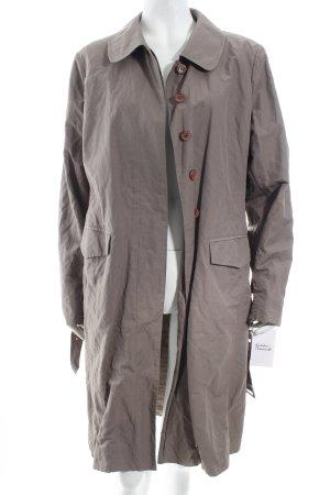 Wrap Trenchcoat grüngrau-graubraun Casual-Look