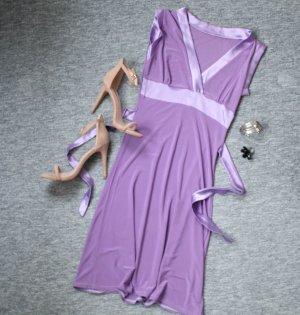 Wrapdress, schönes Kleid mit schleife zum Binden in hellem Lila