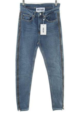 WRSTBHVR Hoge taille jeans veelkleurig casual uitstraling