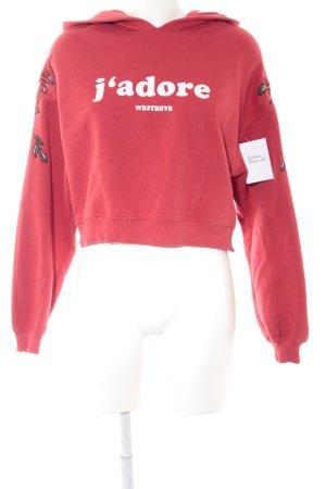WRSTBHVR Kapuzensweatshirt Schriftzug gedruckt Street-Fashion-Look