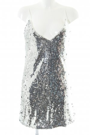 WRSTBHVR Sequin Dress silver-colored extravagant style