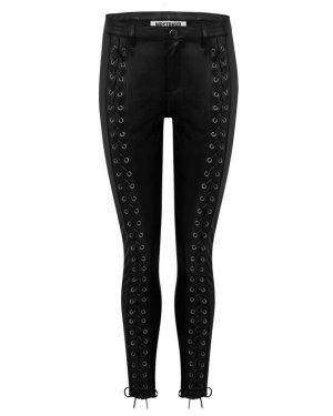 WRSTBHVR Pantalón de cuero negro