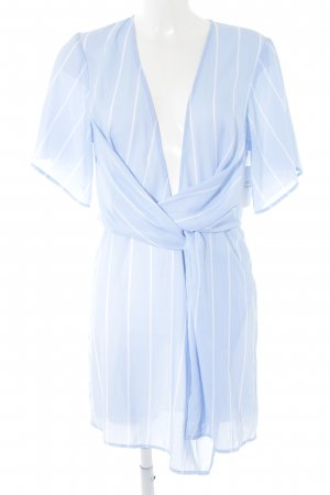 WRSTBHVR Wraparound white-azure striped pattern elegant