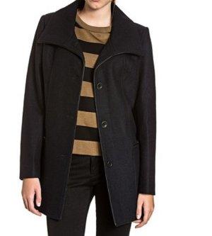 WSV Calvin Klein Kurzmantel Jacke Wolle schwarz Gr. L 40 NEU