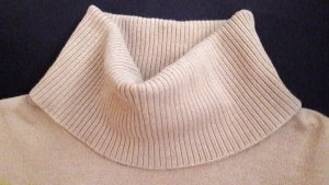 Esprit Camisa de cuello de tortuga marrón arena Algodón