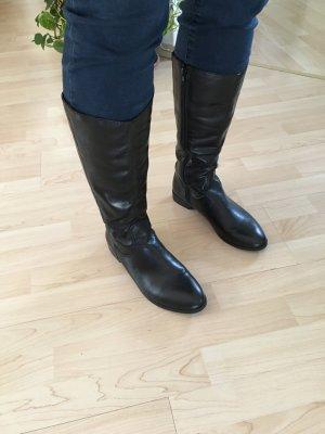 Tamaris Wide Calf Boots black leather