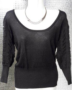 WSV!!!   Shirt Pullover in schwarz mit Lurexanteil inkl. GRATIS Colliere