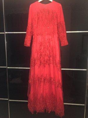 Wünder schöne Desinger kleid in Rot