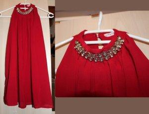 Top con colletto arrotolato rosso mattone-rosso
