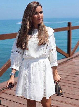 Zara Abito a balze bianco