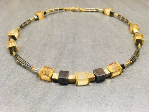 Collier Necklace black-gold-colored