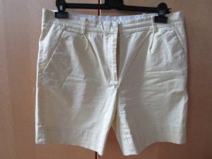COS High-Waist-Shorts pale yellow-primrose cotton