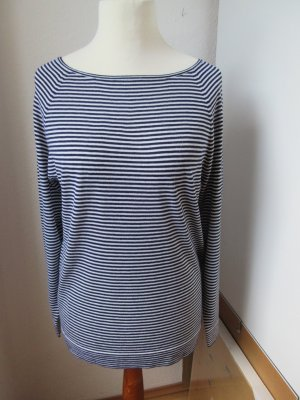 (The Mercer) NY Maglione lavorato a maglia bianco-blu scuro Lana merino