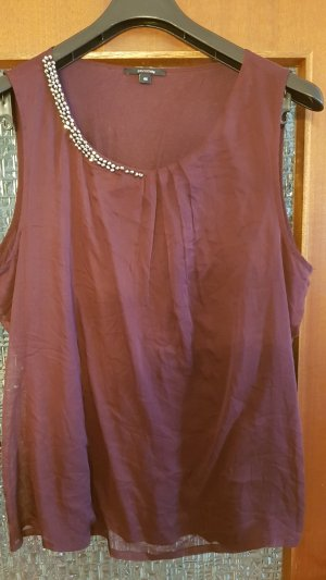 Comma Blouse Top brown violet