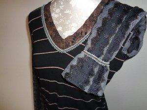 V-hals shirt veelkleurig Textielvezel