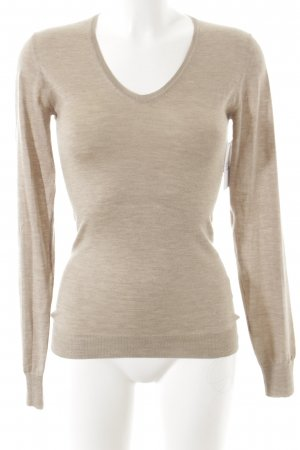 Wunderkind V-Ausschnitt-Pullover beige Casual-Look