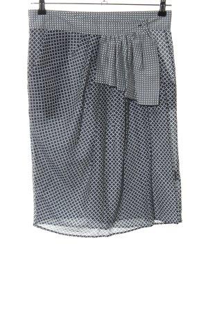 Wunderkind Wraparound Skirt light grey-black allover print casual look