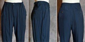 Wunderkind Pantalone a vita alta blu scuro-blu Poliestere