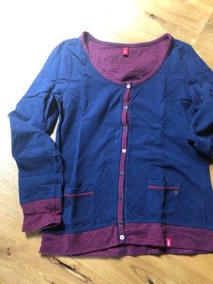 edc Sweat Jacket dark blue-dark red