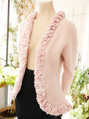 B.young Knitted Cardigan pink mixture fibre