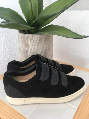 Hassia Velcro Sneakers black-oatmeal leather