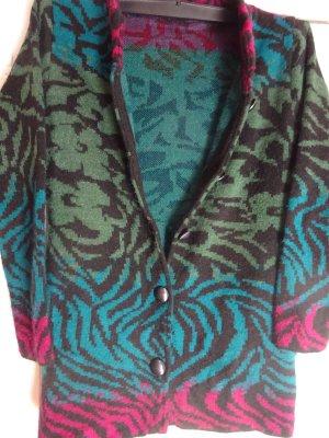 Giacca in maglia multicolore Lana