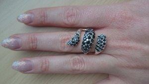 wunderschöne 925 Silber Ring Schlange