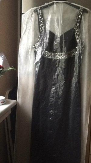 Wunderschöne Abendkleid schwarz mit silbernen Pailletten