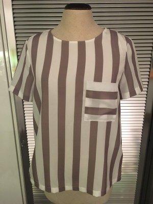 Wunderschöne beige-weiß gestreifte Bluse/Shirt von ZARA in Gr. S