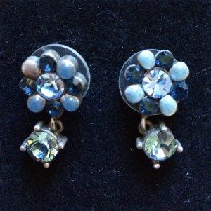 Wunderschöne blaue Ohrringe mit Strasssteinen - Konplott