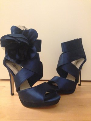 Buffalo girl High Heel Sandal blue-dark blue