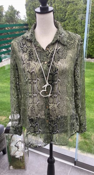 100% Fashion Transparante blouse veelkleurig