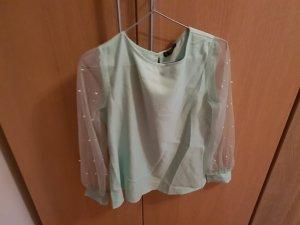 SheIn Zijden blouse turkoois