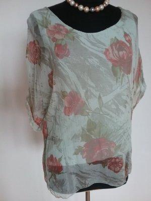 Wunderschöne  Bluse  aus 100% Seide ...MADE IN ITALY..wie  NEU!!!