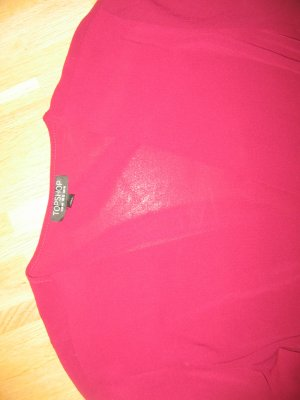 Topshop Slip-over Blouse red viscose