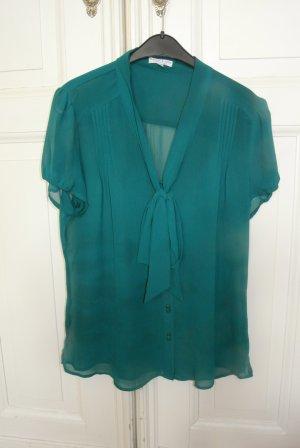 Wunderschöne Bluse in Flaschengrün. Wie neu!!!