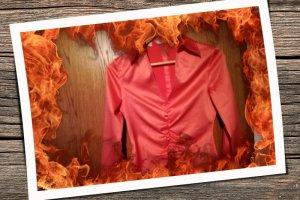 Wunderschöne Bluse in rot