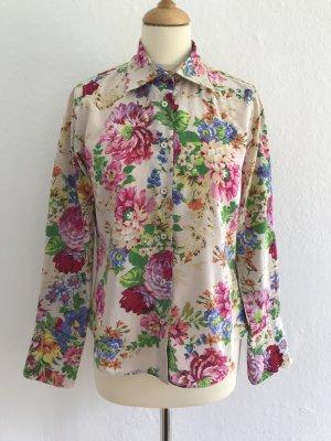Wunderschöne Bluse mit Blümenmuster von MILANO Italy, Gr.36,38