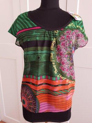 Wunderschöne Bluse mit buntem Print-Design von DESIGUAL...NEU mit Ettiket!!!
